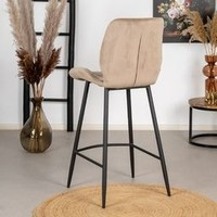 Velvet bar stool Toby Taupe
