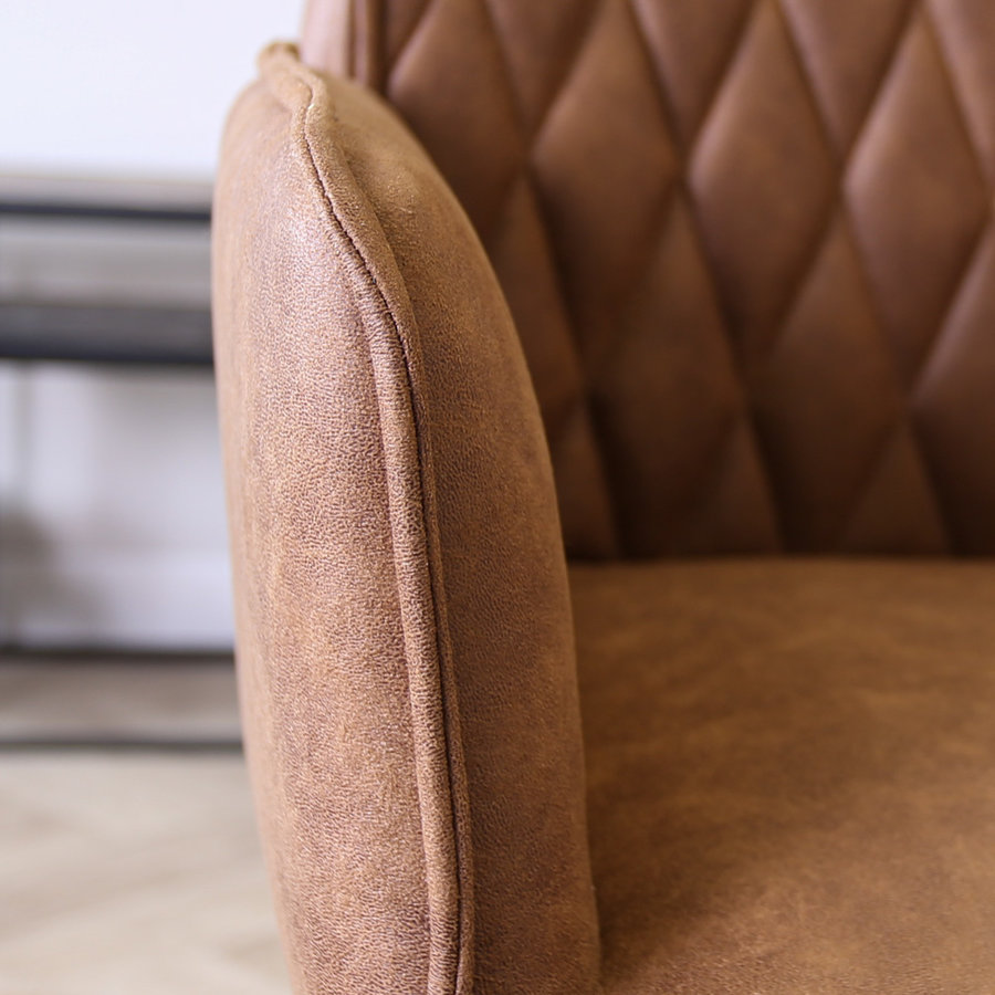 Industrial Dining Chair Donny Cognac