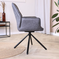 Industrial Dining Chair Donny Anthracite