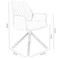 Industrial Dining Chair Donny Taupe
