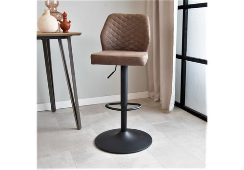 Industrial Barstool Grayson Taupe