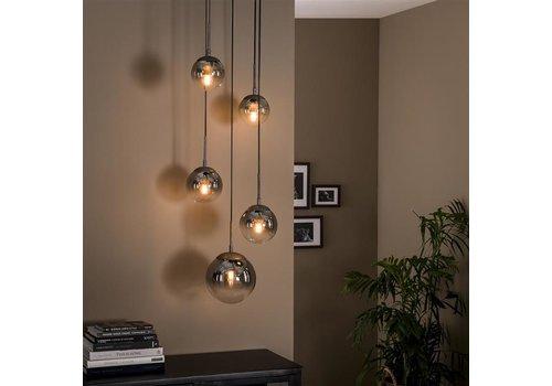 Modern ceiling  light  Owen 5L bubble shaded