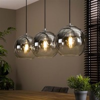Modern ceiling light Mia 3L bubble shaded