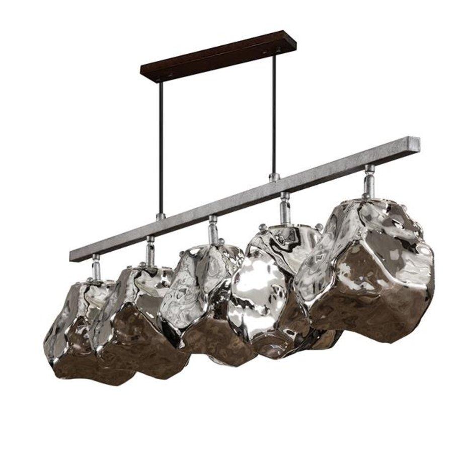 Modern Ceiling Light Jade 5L rock-height adjustable