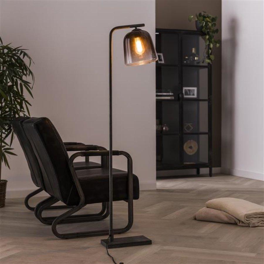 Industrial Floor Lamp Julian 1L grey shaded