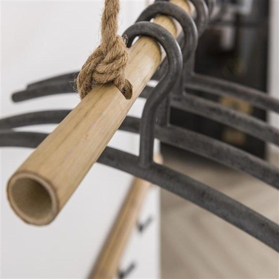 Coatrack bamboo Adam 6 hooks
