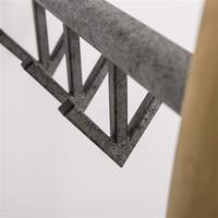 Standing coat rack metal bamboo Adam 2x3 hooks