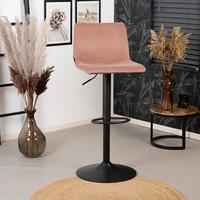 Velvet bar stool Frankie Pink height adjustable