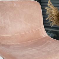 Velvet bar stool Mikky Pink height adjustable