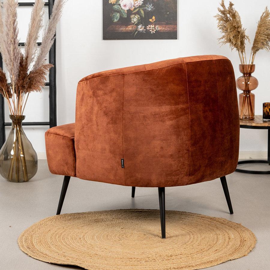Velvet armchair Billy Copper