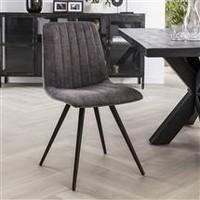 Velvet dining chair Zoey Grey