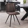 Velvet dining chair Zoey Taupe
