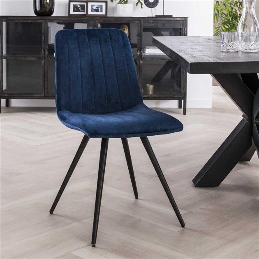 Velvet dining chair Zoey Blue