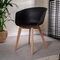 Modern Dining Chair Herning Black