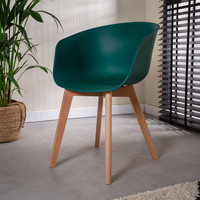Modern Dining Chair Herning Green