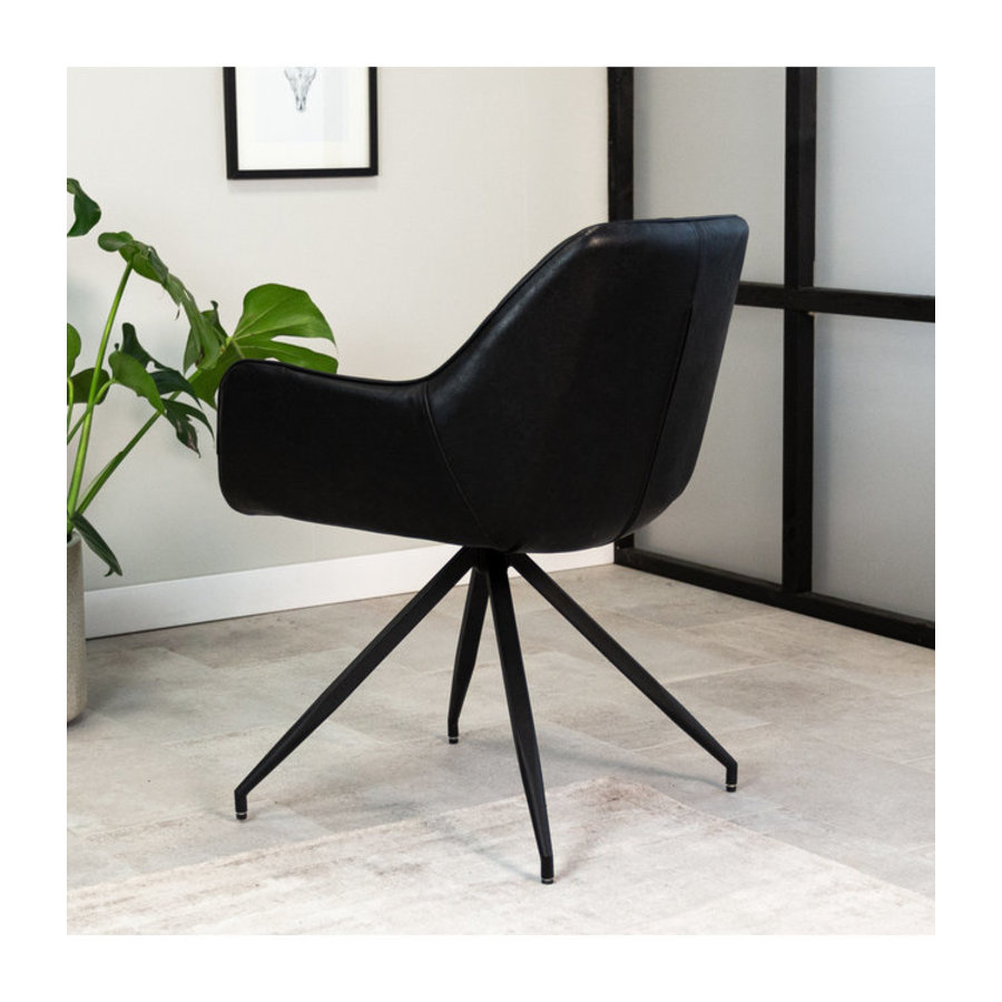 Industrial Dining chair Gian Black
