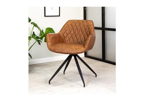 Industrial Dining chair Gian Cognac