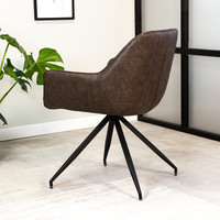 Industrial Dining chair Gian Taupe