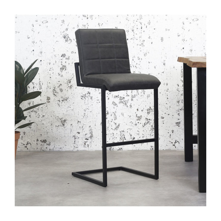 Industrial Bar Stool Hoxton Anthracite