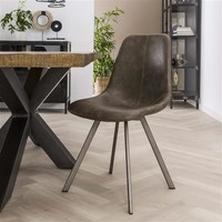 Modern dining chair Kendal Taupe