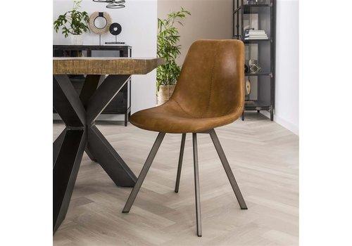 Modern dining chair Kendal Cognac