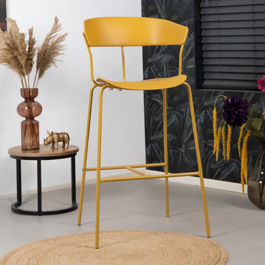 Modern Bar Stool Olea Yellow