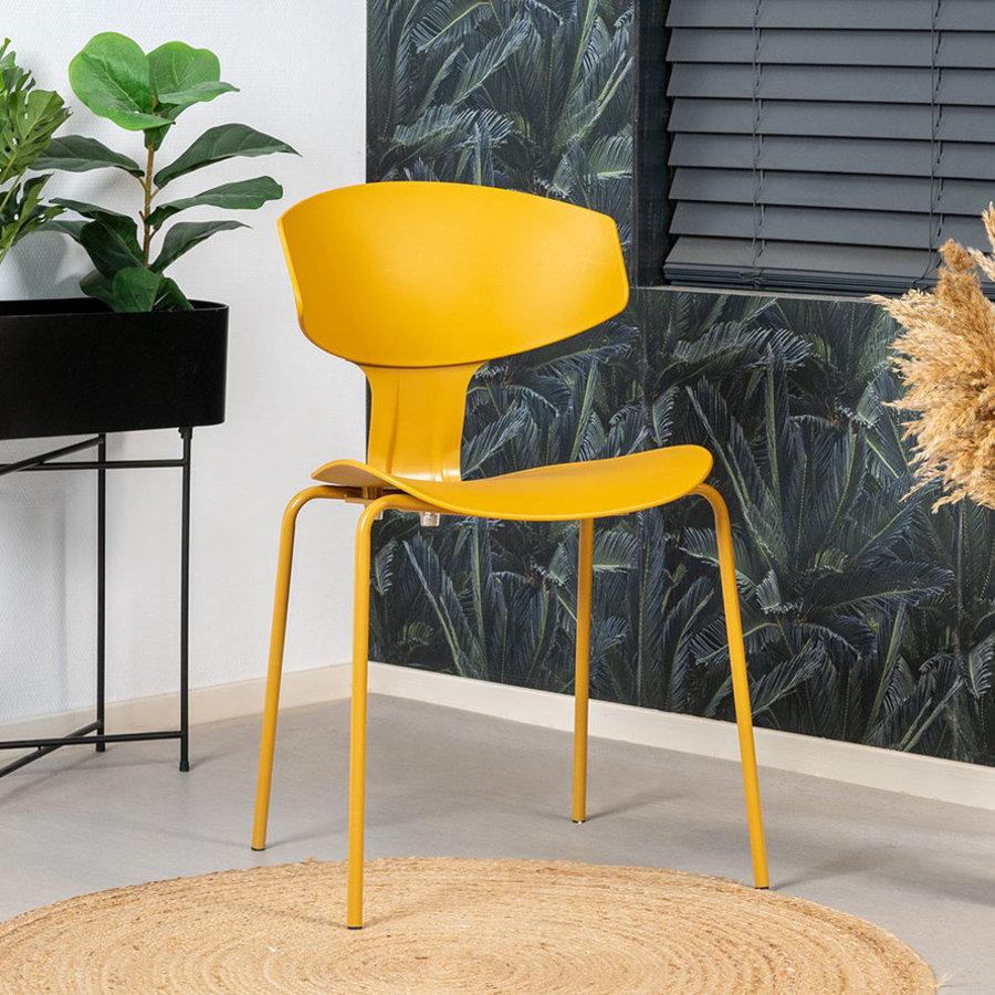 Modern Dining Chair Mara Yellow
