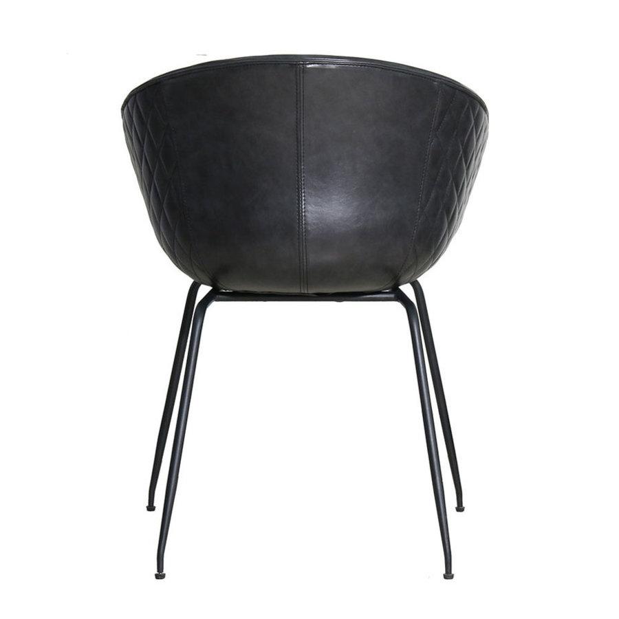 Industrial dining chair Sara Black PU
