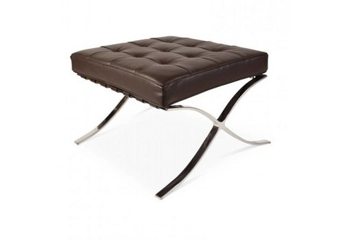 Barcelona Ottoman Brown - Premium Leather