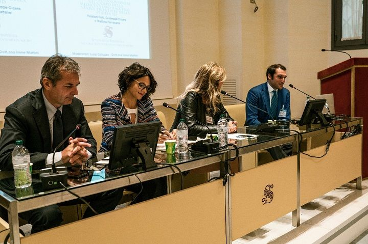 Our co-founders in the Italian Senate in Rome