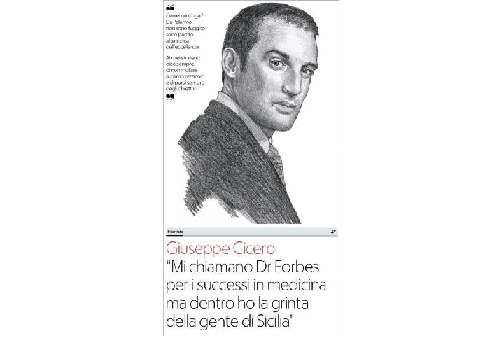 """Dr. Giuseppe Cicero: """"THEY CALL ME DOCTOR FORBES ..."""""""