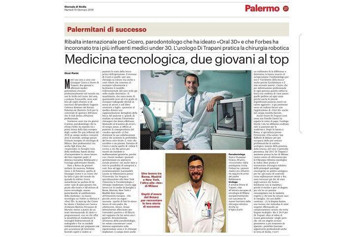 """Giornale Di Sicilia: """"Technological medicine"""""""