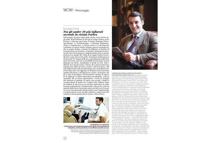 "Ulisse Magazine: ""In its most influential under 30s list by Forbes"""
