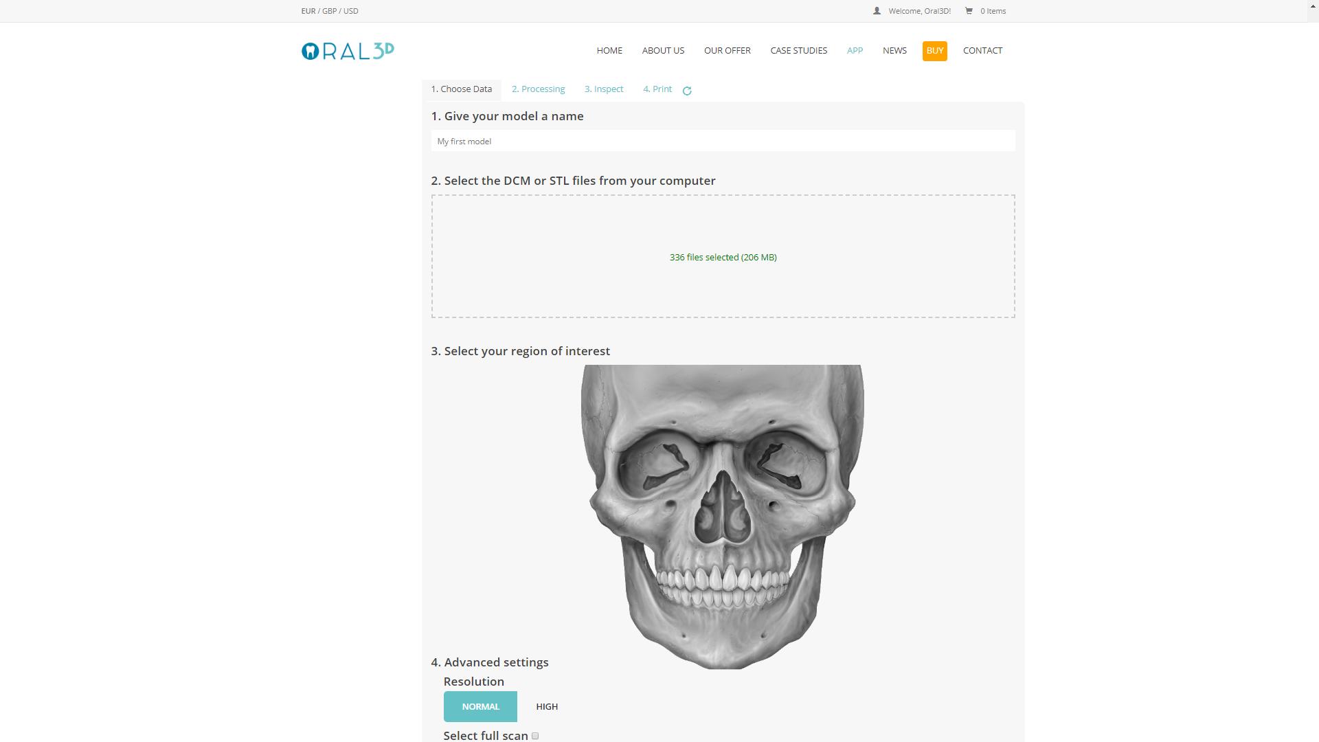 Oral3D Software