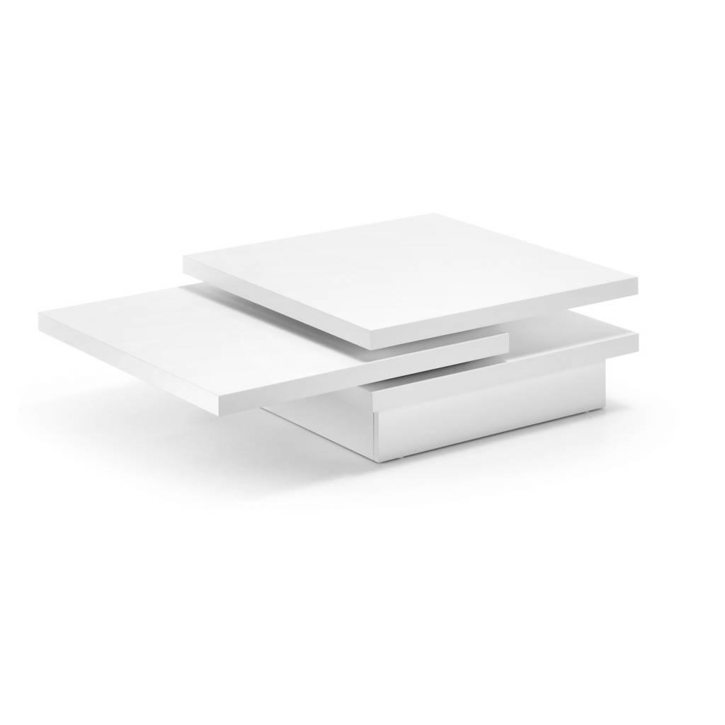 Vierkante Witte Salontafel.Witte Salontafel Yuki 70x70 Het Meubelhuis