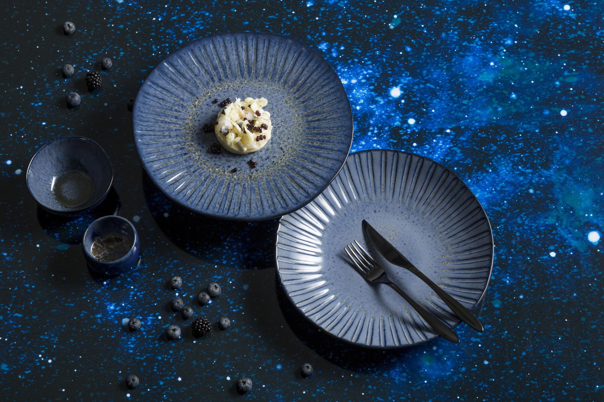 Q Authentic Stone Blue servies