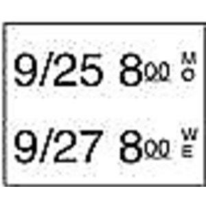 Daymark Stickerrol 2-lijnspistool vol. oplosbaar 500/rol