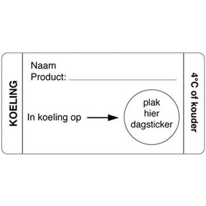 Daymark Afwasbare sticker koeling 250/rol