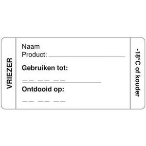 Daymark Afwasbare sticker vriezer 250/rol