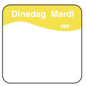 Daymark Vol. oplosbare sticker dinsdag 25 mm 500/rol
