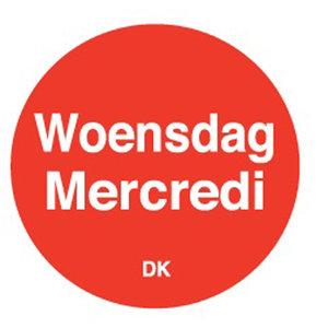 Daymark Permanente sticker woensdag 19 mm 1000/rol