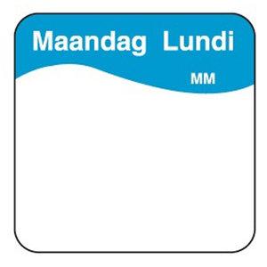 Daymark Makk. verwijderbare sticker maandag 25 mm 1000/rol