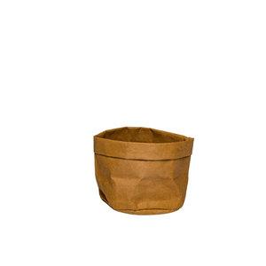 Non Food Company Broodmand papier wasbaar bruin 13 x 13 x 15