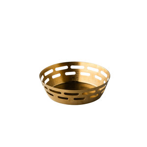 Non Food Company Presentatiepoint Broodmand vintage goud  Ø17 x 5 cm