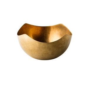 Non Food Company Vintage goud kom  Ø26cm