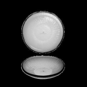 Churchill Dusk Glass Round Bamboo Bowl 17cm