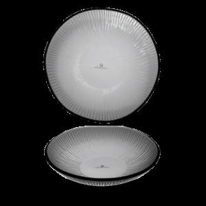 Churchill Dusk Glass Round Bamboo Bowl 22cm