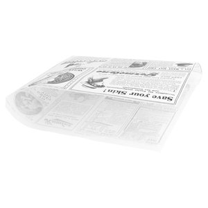 "Non Food Company Vetvrij papier zak""Newspaper white""18x17cm 500-pak"