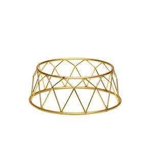 Non Food Company Buffet verhoger kroon goud 25X21X10 cm