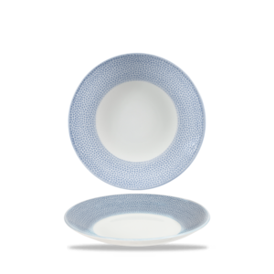 Churchill Servies Isla Spinwash Ocean Blue Deep Coupe Plate 22,5cm